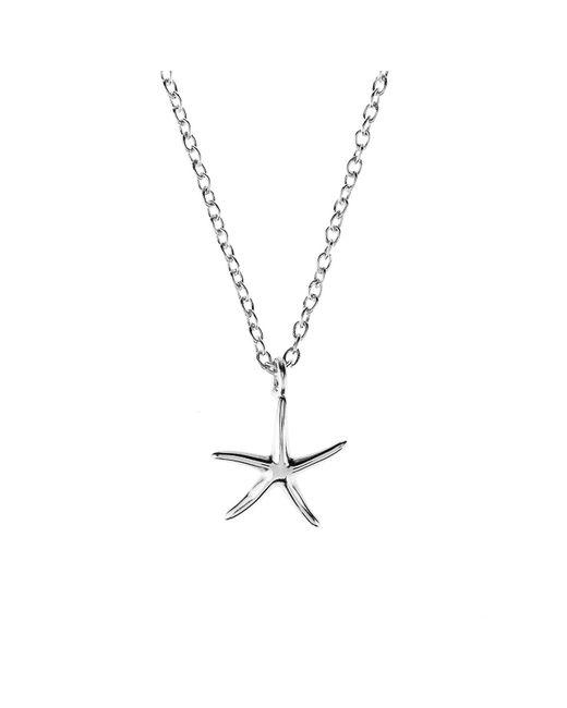 Latelita London | Metallic Petite Starfish Necklace Silver | Lyst