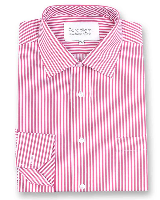 Double Two - Red Paradigm King Size Single Cuff Pure Cotton Shirt for Men - Lyst