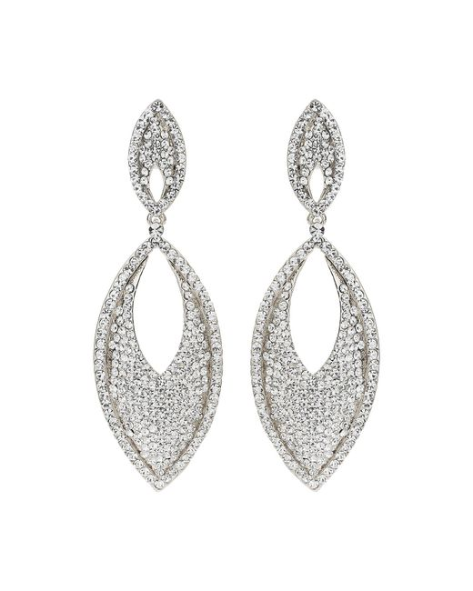Mikey | White Large Eclipse Studded Drop Earring | Lyst