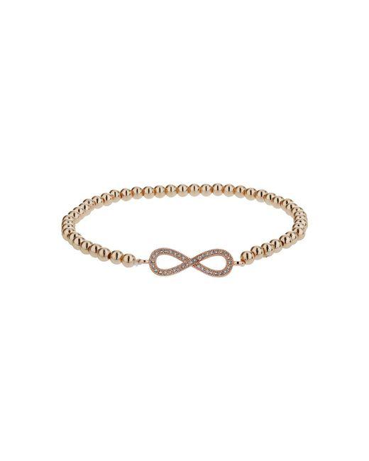 Mikey | Black Crystal Bow Elastic Bracelet | Lyst