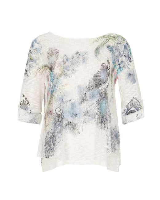 Izabel London | Multicolor Layered Feather Jumper Top | Lyst