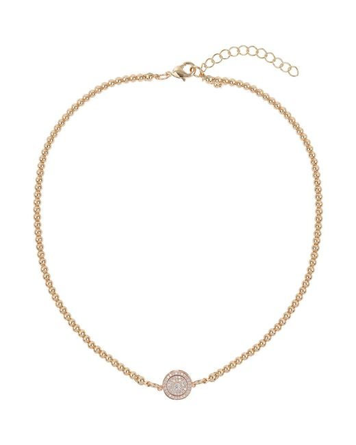 Mikey | Metallic Studded Crystal Heart Necklace | Lyst