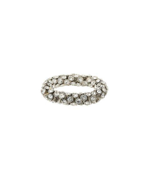 Mikey | White Large Crystal Elastic Bracelet | Lyst