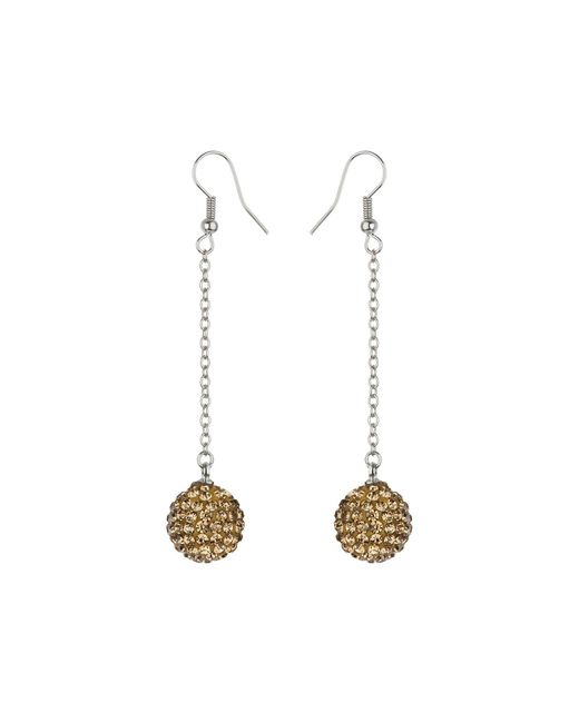 Mikey | Metallic 14mm Crystal Drop Earrings | Lyst