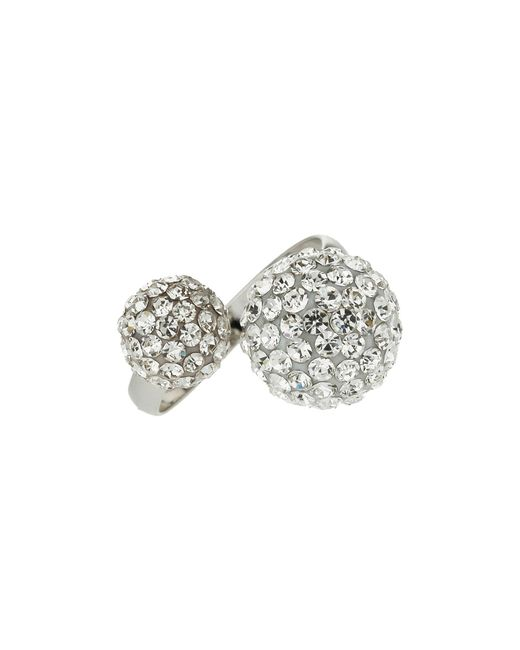 Mikey | White Twin Stone Cluster Ring | Lyst