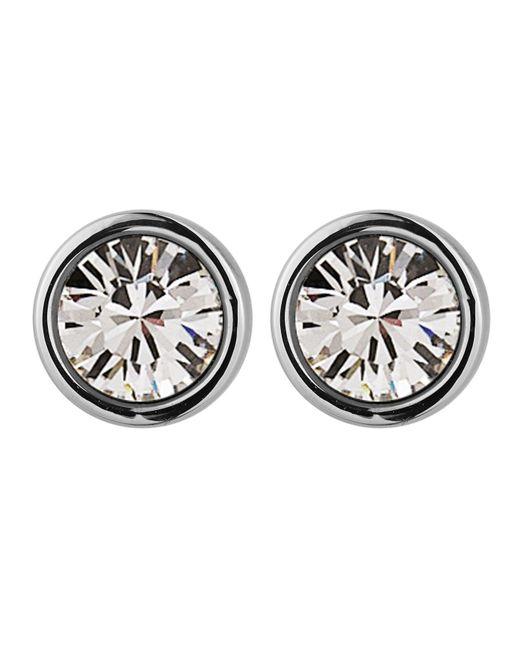 Dyrberg/Kern | Metallic Noble Silver Crystal Earrings | Lyst