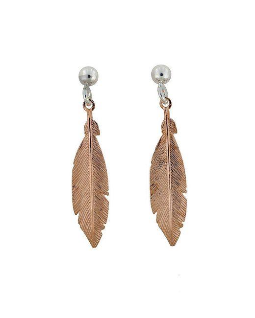 Azendi | Metallic Sterling Silver/18ct Rose Gold Vermeil Earrings | Lyst