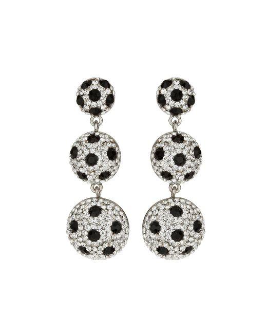 Mikey | Metallic 3 Drop Earrings With Spots | Lyst