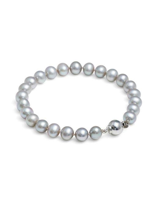Jersey Pearl | Metallic Silver Medium Pearl Bracelet | Lyst