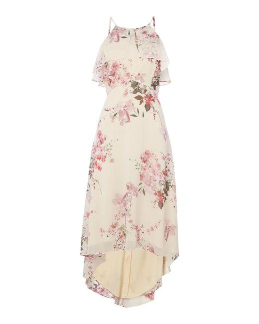 Ariella | Pink Ruffle Top High Low Hem Dress | Lyst