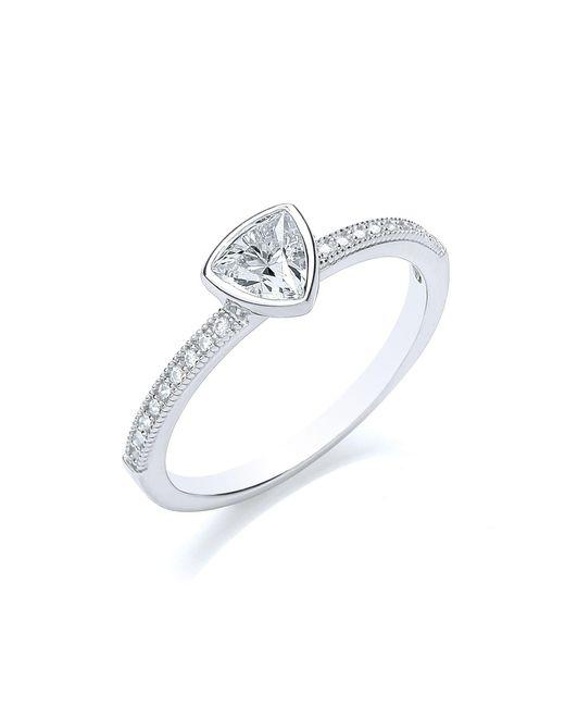 Bouton - Metallic Stacker Ring Trillion - Lyst