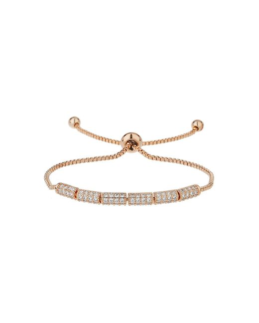 Mikey - White Cubic Rectangle Beads Tie Up Bracelet - Lyst