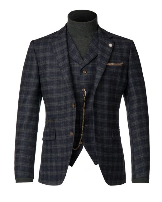 Gibson | Men's Blue And Orange Tartan Jacket for Men | Lyst