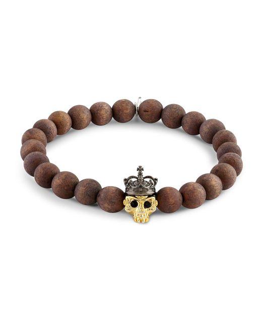 Tateossian - Brown Skull Bead Bracelet for Men - Lyst