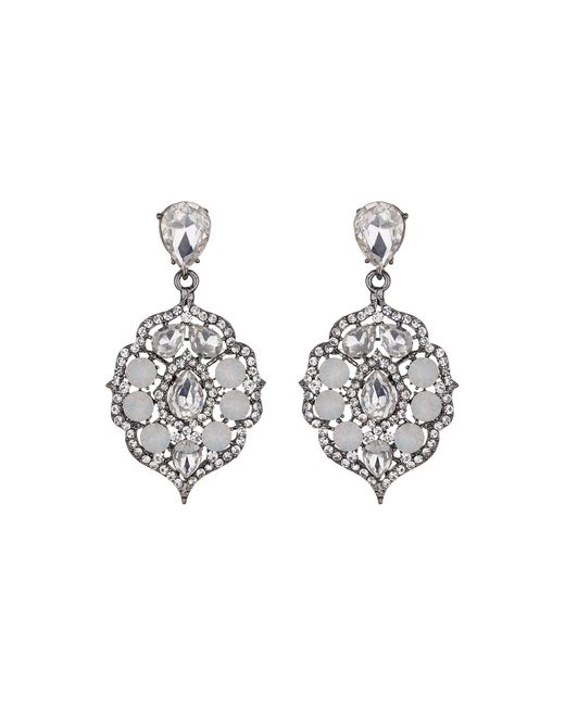 Mikey | White Fillagary Hanging Crystal Earring | Lyst