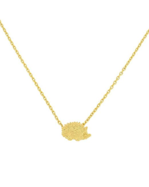 Azendi | Metallic Sterling Silver And Gold Hedgehog Necklace | Lyst