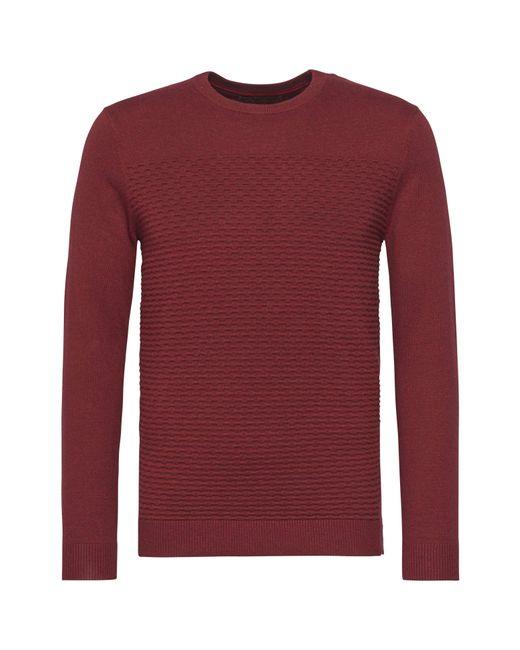 Calvin Klein | Red Safet Crew Neck Sweater for Men | Lyst