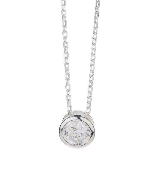 Mikey - Metallic Silver 925 Circle Stone Pendant - Lyst