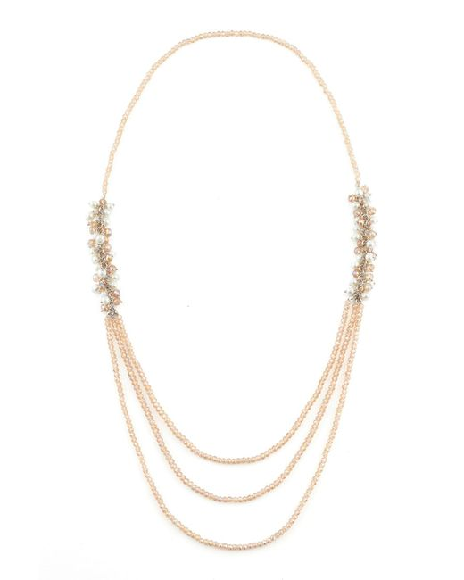 James Lakeland | Metallic Long Pearl Beaded Cluster Necklace | Lyst