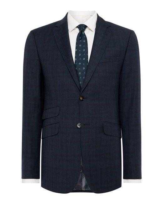 Ted Baker - Blue Quarrij Check Suit Jacket for Men - Lyst