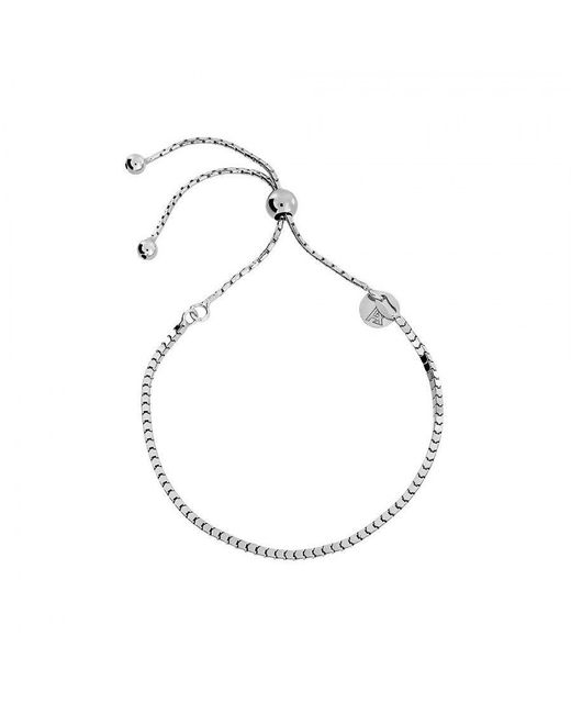 Azendi | Metallic Box Chain Adjustable Bracelet | Lyst