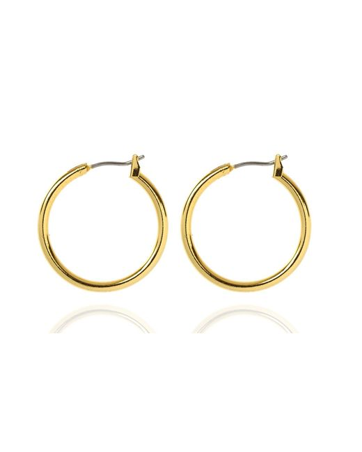 Anne Klein | Metallic Small Gold Hoop Earrings | Lyst
