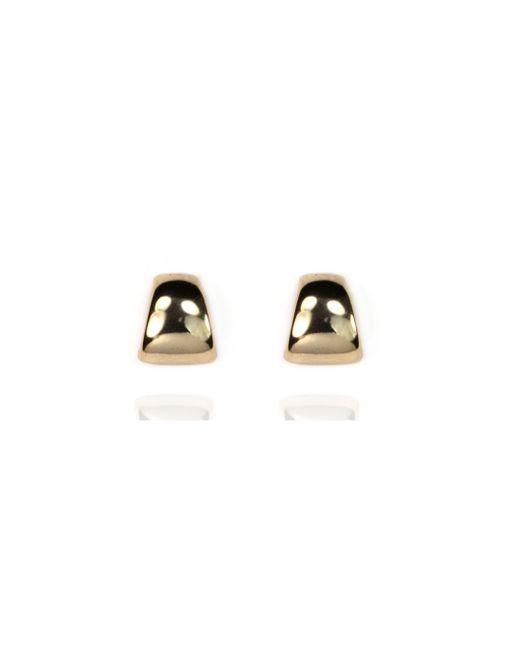 Anne Klein | Metallic Silver Stud Earrings | Lyst