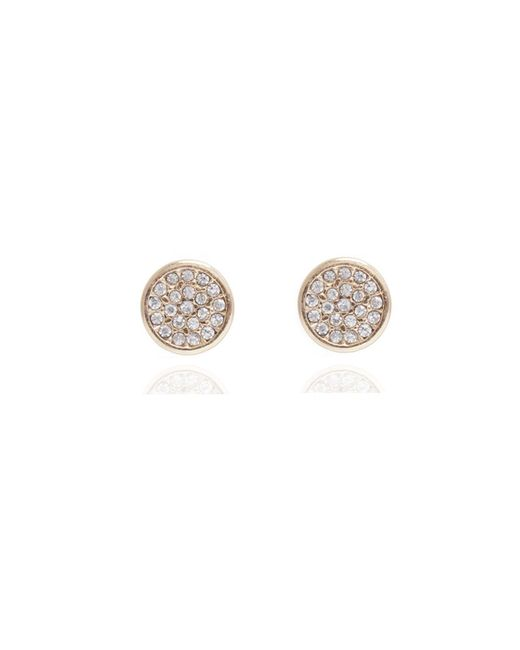 Anne Klein | Metallic Pave Button Stud Earrings | Lyst