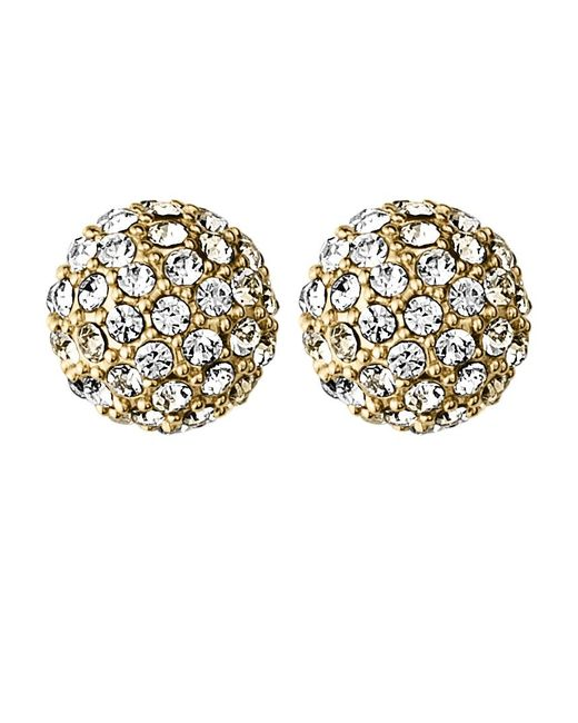 Dyrberg/Kern | Metallic Dyrberg/kern Gianda Round Crystal Stud Earrings | Lyst