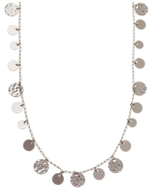 Nine West | Metallic Circle Drop Long Necklace | Lyst