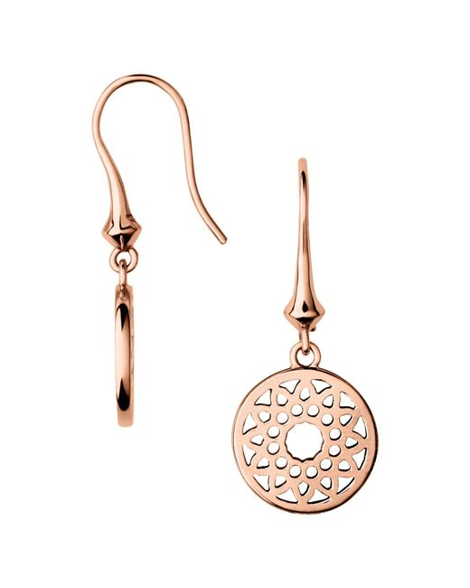 Links of London | Metallic Timeless Rose Gold Small Drop Earrings | Lyst