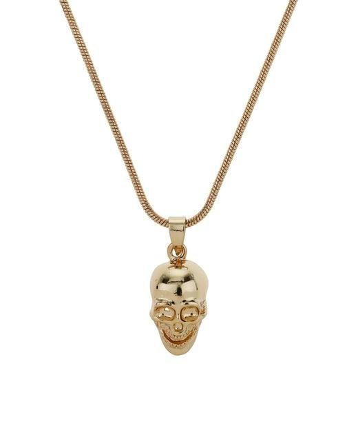 Mikey | Metallic Skull Necklace | Lyst