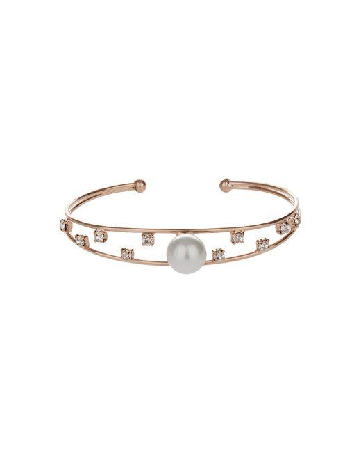 Mikey | Gold Pearl Head Spread Cubic Cuff | Lyst