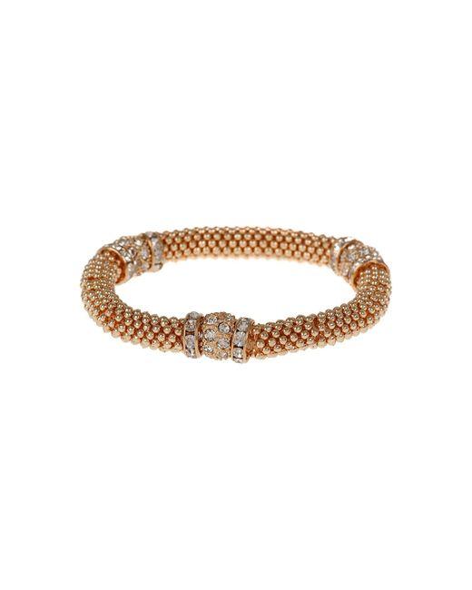 Mikey | Metallic Metal Chain Crystal Cylinder Bracelet | Lyst
