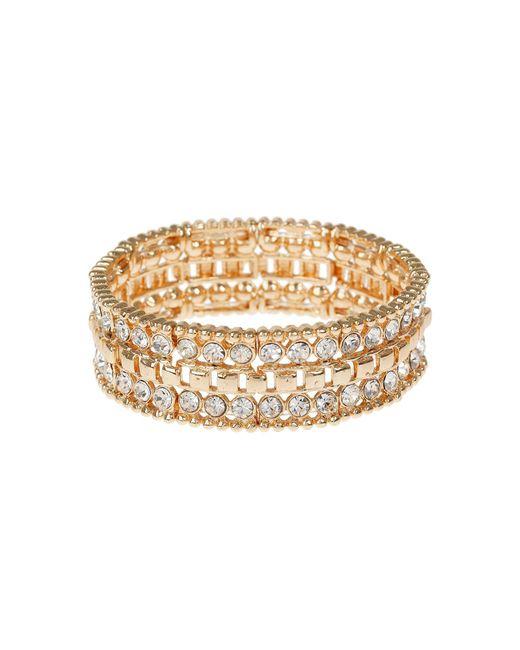 Mikey | Metallic Filigree Cubic Square Elastic Bracelet | Lyst