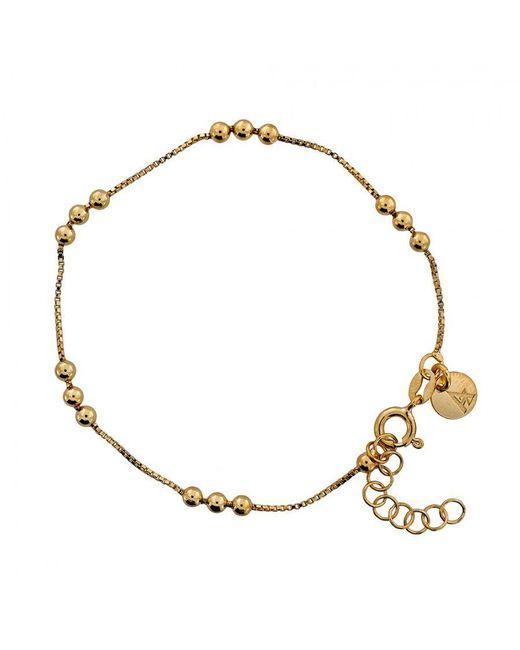 Azendi | Metallic Gold Vermeil Triple Ball Chain Bracelet | Lyst