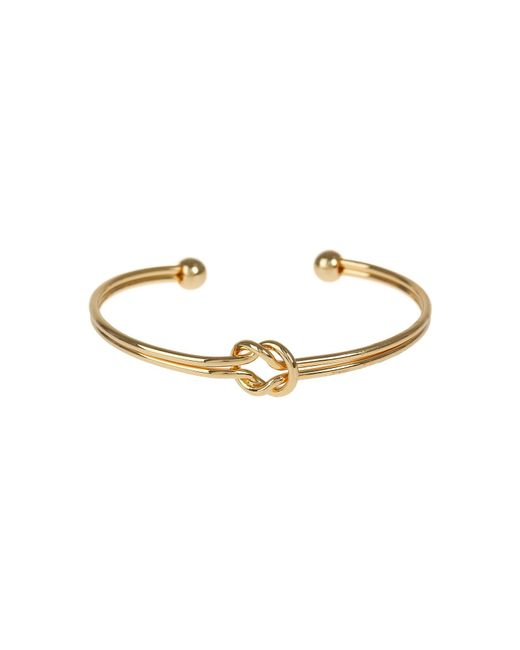 Mikey | Metallic Centre Knot Twin Wire Cuff Bracelet | Lyst
