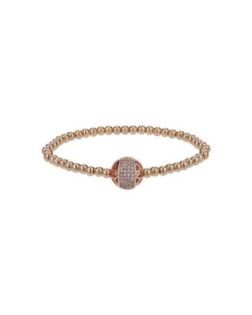 Mikey | Metallic Filigree Solid Crystal Bead Bracelet | Lyst