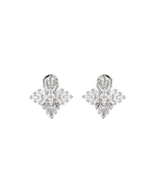 Mikey | Metallic Cross Design Multi Baguette Earring | Lyst