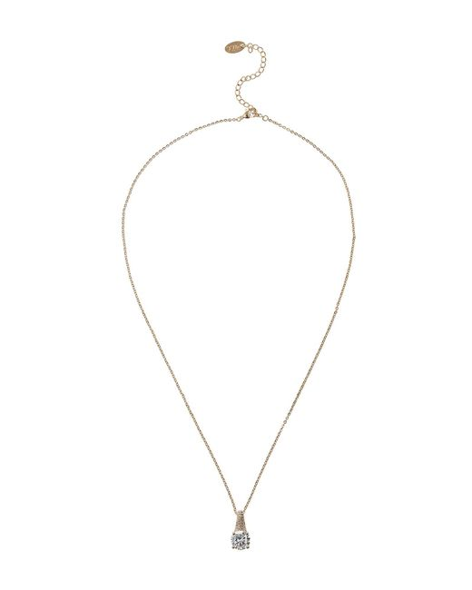 Mikey | Metallic Round Cubic Edged Hook Necklace | Lyst
