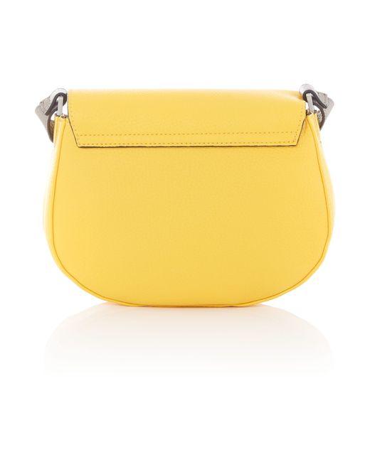 calvin klein yellow small crossbody bag in yellow lyst