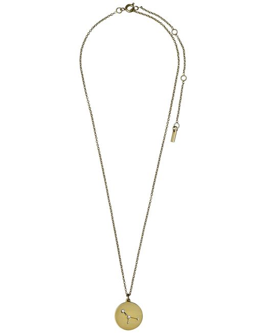 Pilgrim | Metallic Cancer Crystal Gold Plated Necklace | Lyst