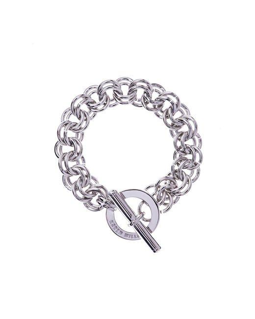 Karen Millen | Metallic Encrusted Bar & Hoop Bracelet - Km | Lyst