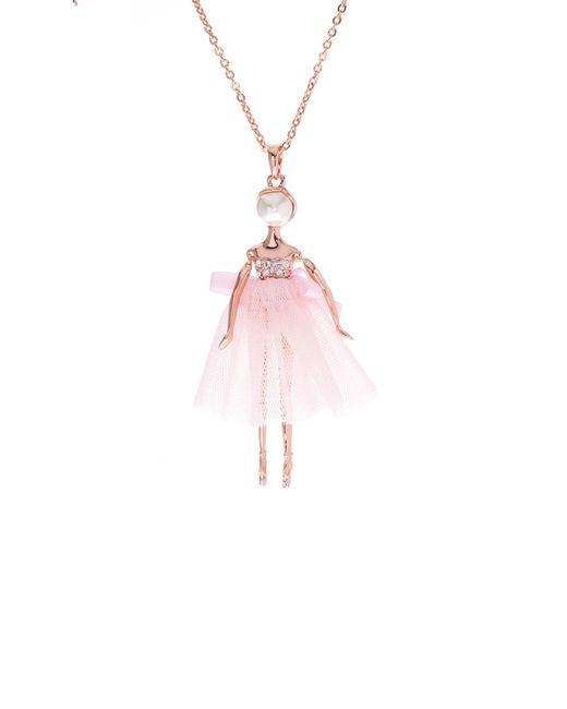 Ted Baker | Metallic Bijou Pave Ballerina Pendant | Lyst