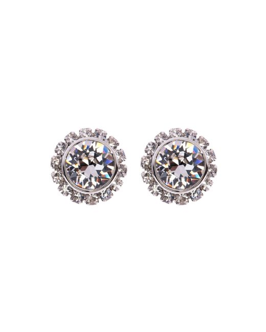 Ted Baker | Metallic 'crystal Daisy' Stud Earrings - Clear | Lyst
