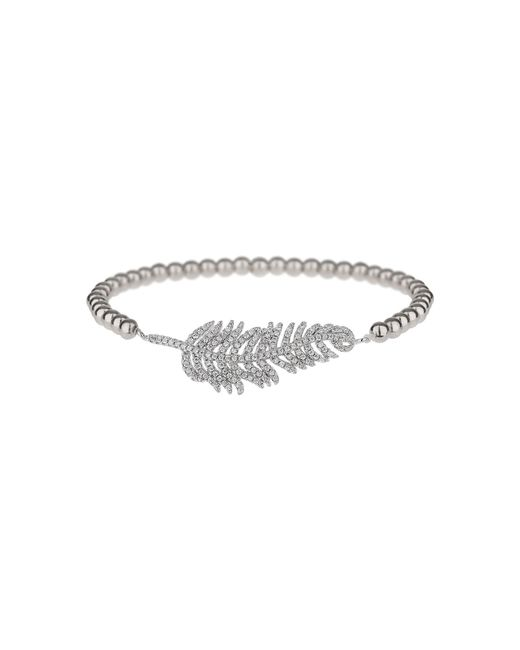 Mikey | Metallic Fine Cubic Leaf Elastic Bracelet | Lyst