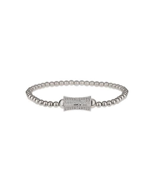 Mikey | Metallic Cross Over Love Cubic Bracelet | Lyst