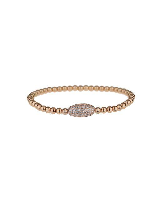Mikey | Metallic Fine Cubic Oval Bead Elastic Bracelet | Lyst