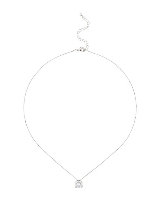 Mikey | White Square Cubic Edged Pendant | Lyst