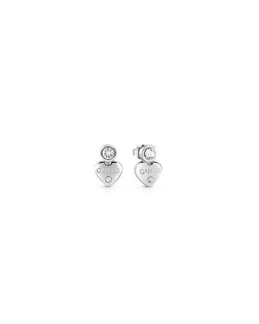 Guess | Multicolor Y Little Heart Stud Earrings | Lyst